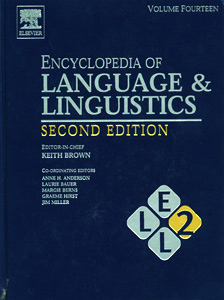 Encyclopedia of Language and Linguistics 2nd/Ed  ( 14 Vol Set )