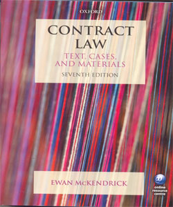 Contract Law Text, Cases and Materials 7Ed.
