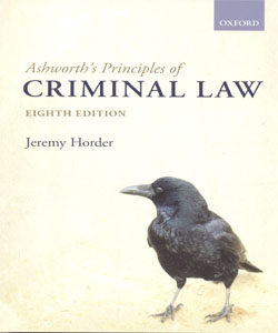 Ashworth's Principles of Criminal Law 8Ed.