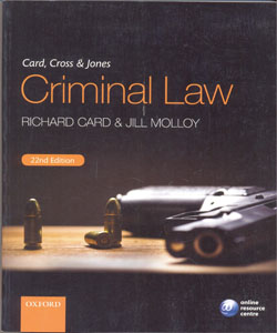 Card, Cross & Jones Criminal Law 22Ed.