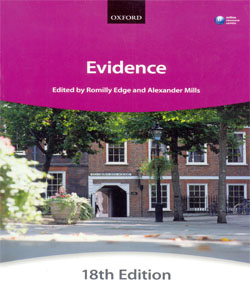 Evidence 18Ed. (Blackstone Bar Manual)