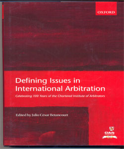 Defining Issues in International Arbitration