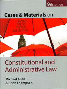 Cases and Materials on Constitutional and Administrative Law 9th Ed