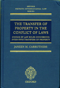 Transfer of Property in the Conflict of Laws