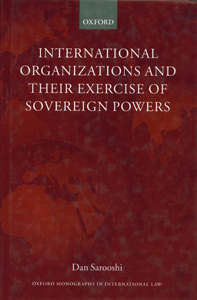 International Organization and Their Exercise of Sovereign Powers