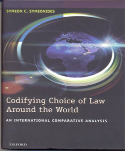 Codifying Choice of Law Around the World An International Comparative Analysis