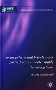 Social Policies and Private Sector Participation in Water Supply:Beyond Regulation
