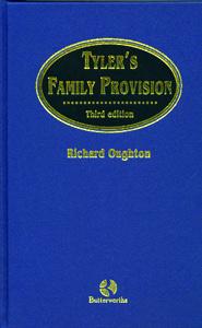 Tyler's Family Provision 3rd/Ed