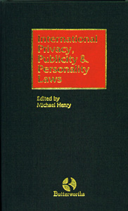 International Privacy ,Publicity and Personality Laws