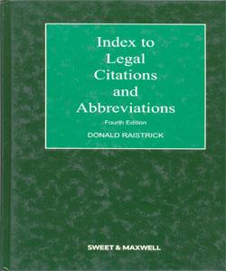 Index to Legal Citations and Abbreviations