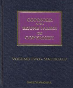 Copinger & Skone James on Copyright 2 Vol.Set