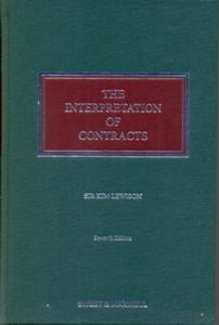 The Interpretation of Contracts 7Ed.