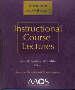 Instructional Course Lectures Shoulder and Elbow 2