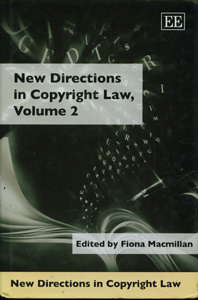 New Directions In Copyright Law, Volume 2