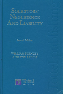 Solicitors' Negligence and Liability, 2nd edition