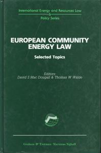 European Community Energy Law Selected Topics