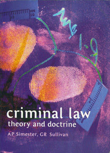 Criminal Law Theory and Doctrine