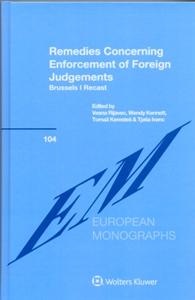 Remedies Concerning Enforcement of Foreign Judgements: Brussels I Recast