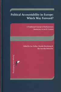 Political Accountability in Europe: Which Way Forward